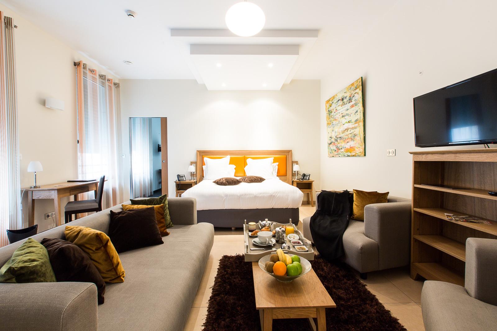 Hôtel Marotte suite Sauna salon