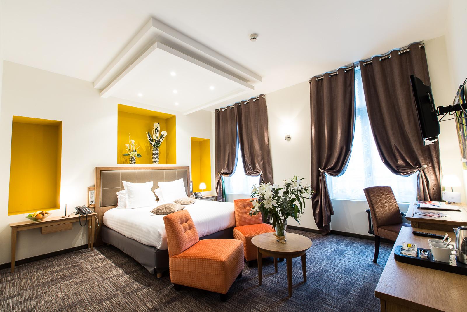 Hôtel Marotte - chambre charme lit double