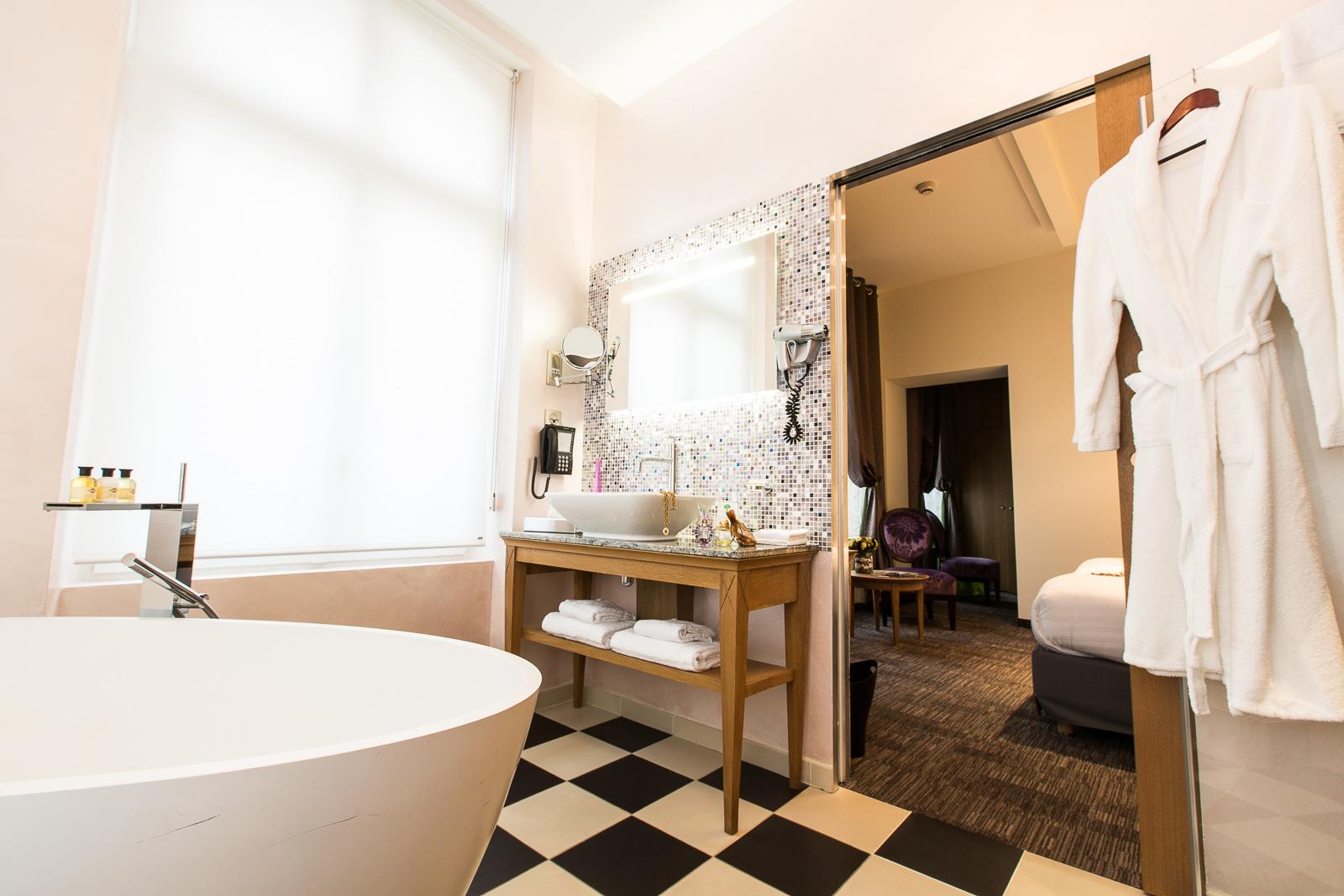 Hôtel Marotte chambre cosy salle de bain chambre