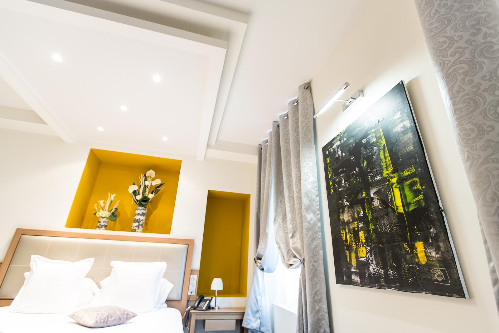 Hôtel Marotte chambre cosy tableau